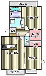シーダー三国ヶ丘[1階]の間取り