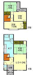 [一戸建] 北海道小樽市オタモイ1丁目 の賃貸【北海道 / 小樽市】の間取り