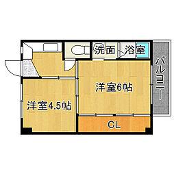ビレッジハウス大阪池島[2階]の間取り