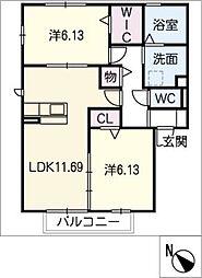 仮)D−room犬山市上坂[1階]の間取り