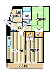 東京都府中市日新町5丁目の賃貸マンションの間取り