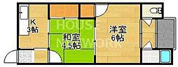 柊野住宅[22号室号室]の間取り