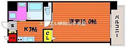岡山県岡山市北区柳町2丁目の賃貸マンションの間取り
