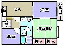 グリーンハイツ遠藤 A・B・C[2階]の間取り