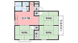 カーディナル加島II[205号室]の間取り