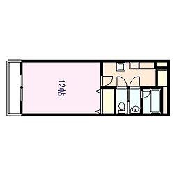 徳島県徳島市中常三島町3丁目の賃貸マンションの間取り