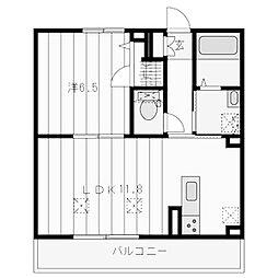 神奈川県川崎市麻生区五力田3丁目の賃貸マンションの間取り
