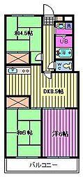 田中グリーンマンション[2階]の間取り
