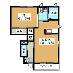 メゾンアイリスII[1階]の間取り