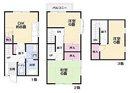 [テラスハウス] 神奈川県横須賀市林3丁目 の賃貸【/】の間取り