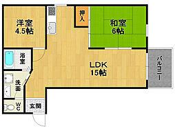カーサ武田[1階]の間取り