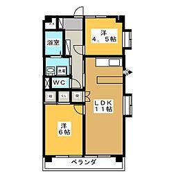 カプリスK1[3階]の間取り