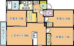 パル宮丸[2階]の間取り