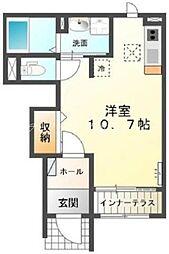 岡山県倉敷市幸町の賃貸アパートの間取り