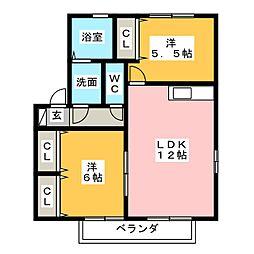 フルハウスYB[1階]の間取り