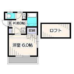 東京都西東京市泉町1丁目の賃貸アパートの間取り