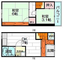 [一戸建] 大阪府豊中市刀根山6丁目 の賃貸【/】の間取り