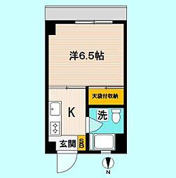 東京都中野区本町3の賃貸マンションの間取り
