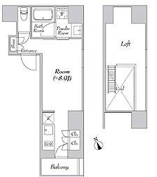 カナルフロント芝浦[5階]の間取り