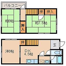 [一戸建] 和歌山県和歌山市市小路 の賃貸【和歌山県 / 和歌山市】の間取り