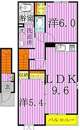 えんじゅ清水公園[C201号室]の間取り