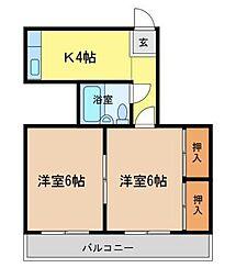 セグラ南昭和[407号室]の間取り