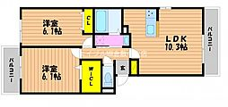 (仮)D−room白石西新町A棟[3階]の間取り