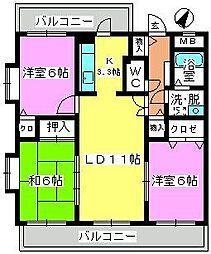 コンフォート博多南[4階]の間取り