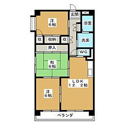 第18和興マンション 南館[4階]の間取り