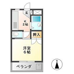 コーポ大桜 III[2階]の間取り