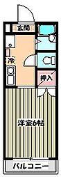 ワンカイヨマンション[3階]の間取り