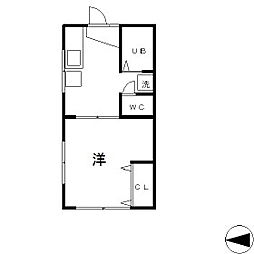 多摩ハウス[2-D号室]の間取り