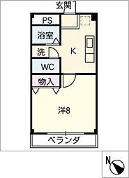 エクセル二村台[1階]の間取り