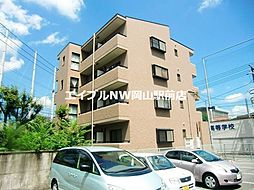 岡山県岡山市北区国体町の賃貸マンションの外観