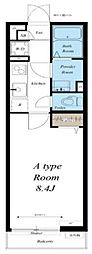 JR外房線 本千葉駅 徒歩13分の賃貸マンション 1階1Kの間取り