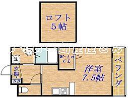 杏[3階]の間取り