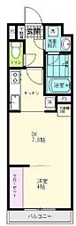 JR仙石線 陸前原ノ町駅 徒歩7分の賃貸アパート 4階1DKの間取り