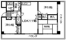 ドミール川崎[407号室]の間取り