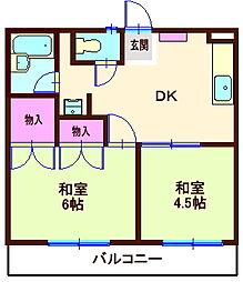 神奈川県横浜市神奈川区斎藤分町の賃貸マンションの間取り