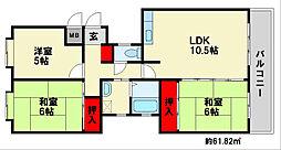 カーサ21[2階]の間取り