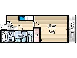 アムール千里丘[1階]の間取り