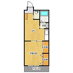 ハイム神道寺[1階]の間取り