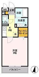 パークヒル櫻山II[2階]の間取り