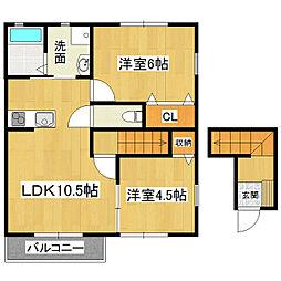 アルストロメリアA棟[2階]の間取り
