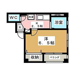 シャイニングドリーム栄[3階]の間取り