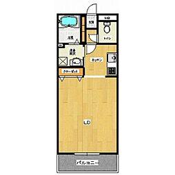 フローレンスII[3階]の間取り