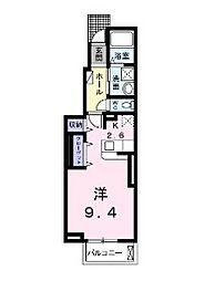 アライブ・マツバラI[1階]の間取り