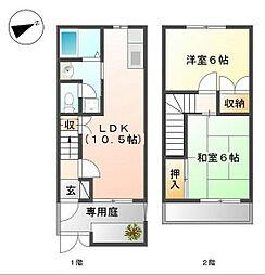 [テラスハウス] 千葉県船橋市丸山1丁目 の賃貸【/】の間取り