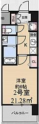 Osaka Metro中央線 九条駅 徒歩4分の賃貸マンション 11階1Kの間取り