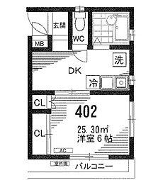 東京都江戸川区一之江町の賃貸マンションの間取り